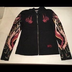 Harley Davidson Sparrow Zip-Up Hooded Sweatshirt